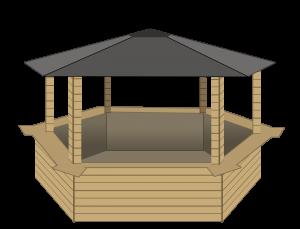 dessin chalet hexa